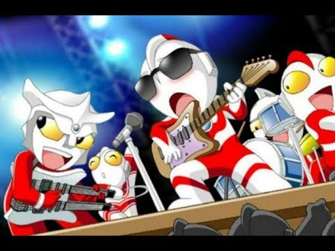 Superman Is Dead - White town Ultraman Animation cover