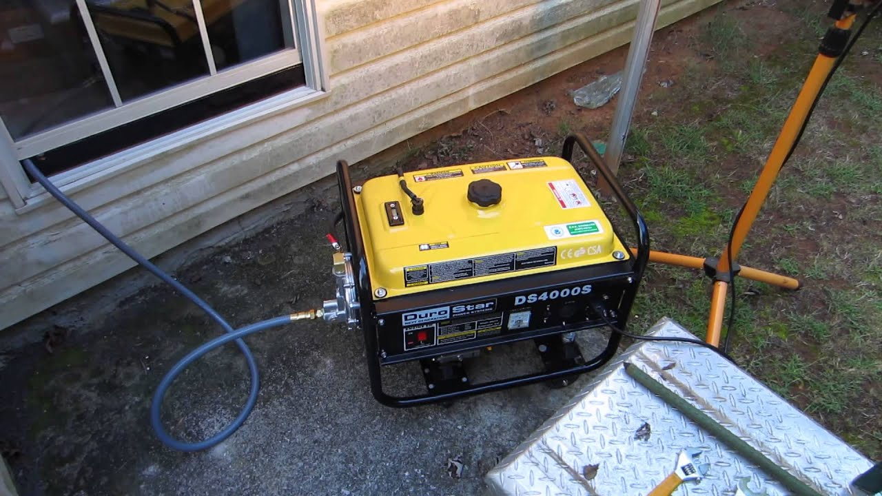 New generator a Durostar DS4000S converted to run on natural