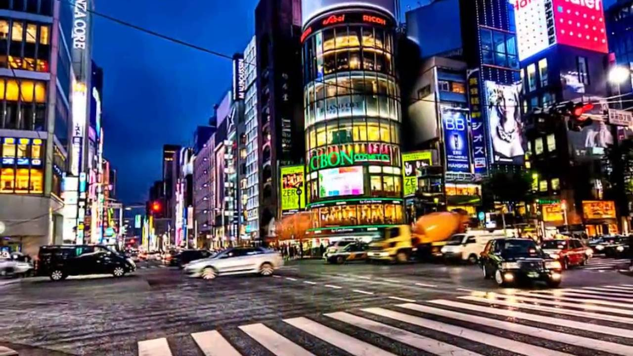Tokyo Ginza at Night in Only 5 Minutes HD - YouTube