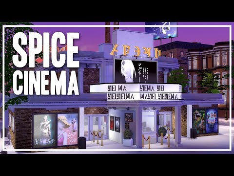 The Sims 4 Speed Build - Spice Cinema [Community Lot]