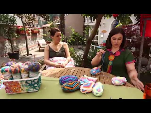 Alize Diva Batik ile Dekoratif Yast?k Yap?m?-Making Decorative Pillow with Alize Diva Batik
