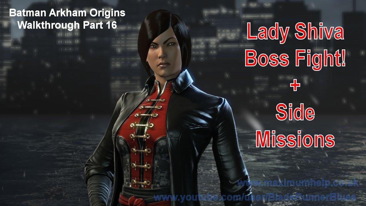 16 Lady Shiva Boss Fight Hard Difficulty Batman Arkham