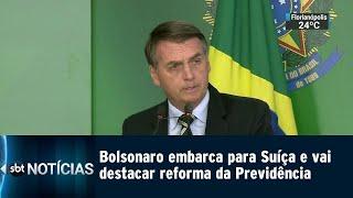 Em viagem internacional, Bolsonaro vai defender a reforma da Previdência | SBT Notícias (21/01/19)