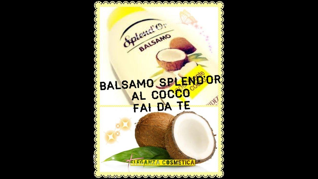 good purchase cheap good service Balsamo capelli fai da te Splend'or al cocco - cowash