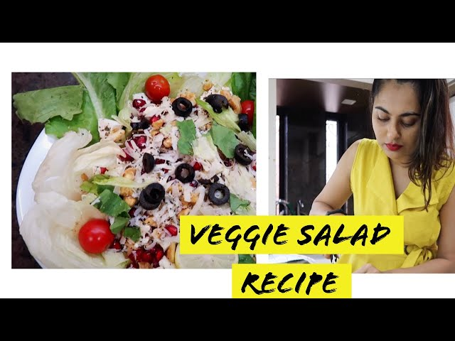 How to make a (tasty) Vegetable Salad (Recipe)| Hindi Cooking Video|