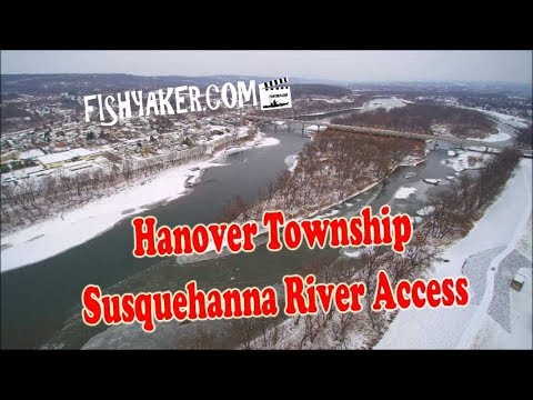Hanover Township, Luzerne County, Pennsylvania - Susquehanna River Boat Access: By Drone