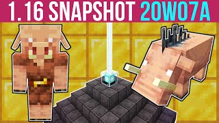 Minecraft 1.16 Snapshot 20w07a The Piglin, The Hoglin & Bartering!