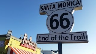 End of the Trail in Santa Monica, Route 66
