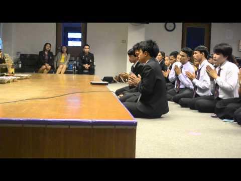 พิธีไหว้สาบูรพาจารย์สาขาวิชาภาษาไทย(ประธานนำกล่าวปฎิญาณ)
