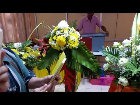 9 ผลงานการจัดดอกไม้ งานศพ งานบวช โพเดี้ยม งานแต่ง