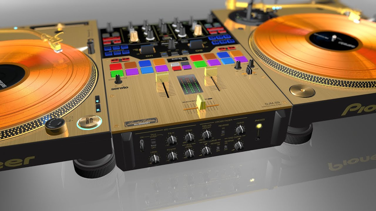pioneer djm s9 n plx 1000 n gold limited edition set un boxing youtube. Black Bedroom Furniture Sets. Home Design Ideas