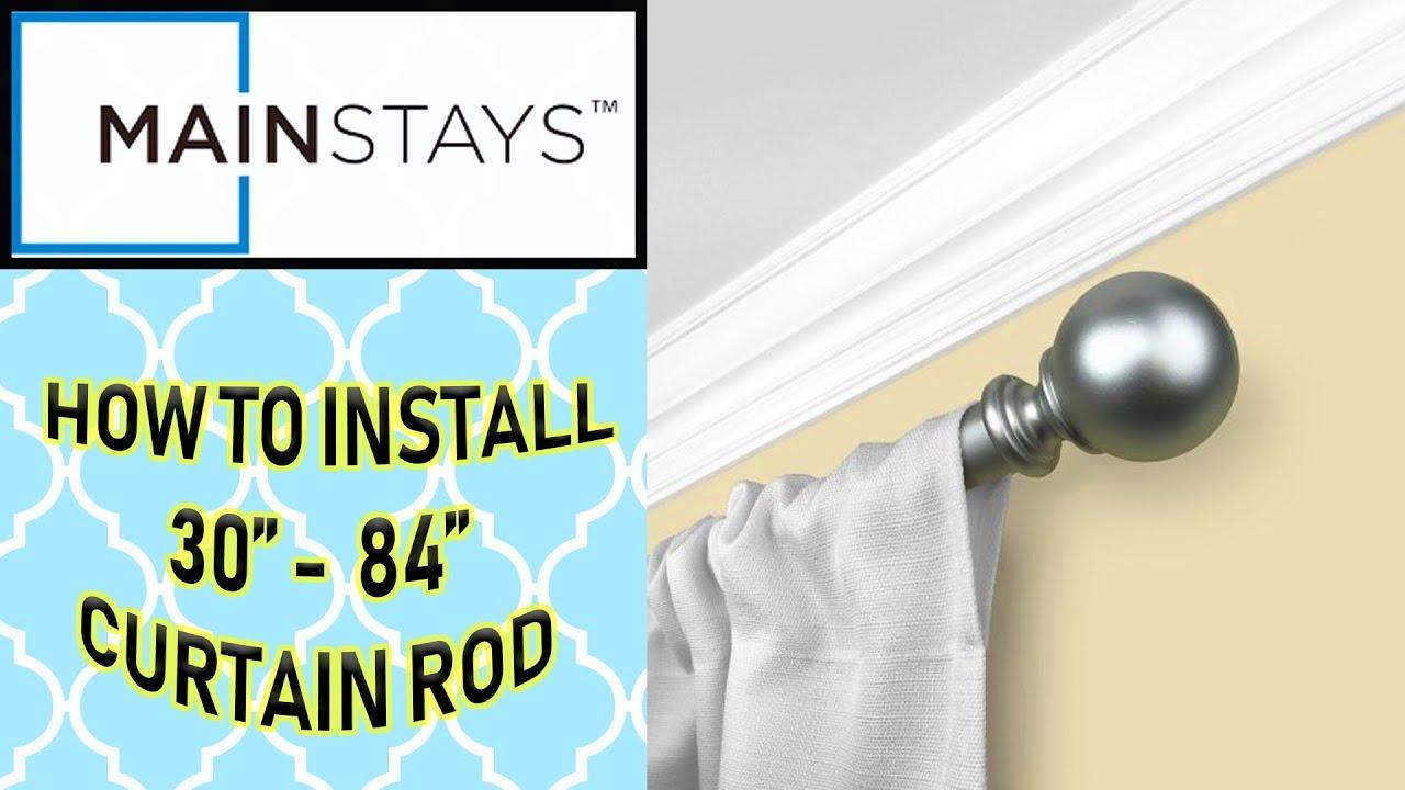 mainstays walmart curtain rod how to install