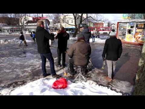 The Radiators LV performing ''Daft punk - Lucky'' for Tallinn local news