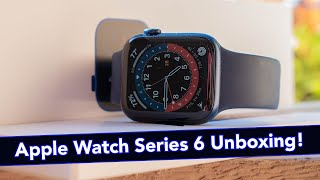 Apple Watch Series 6 Unboxing & Initial Impressions (Blue + Deep Navy Sport Band)