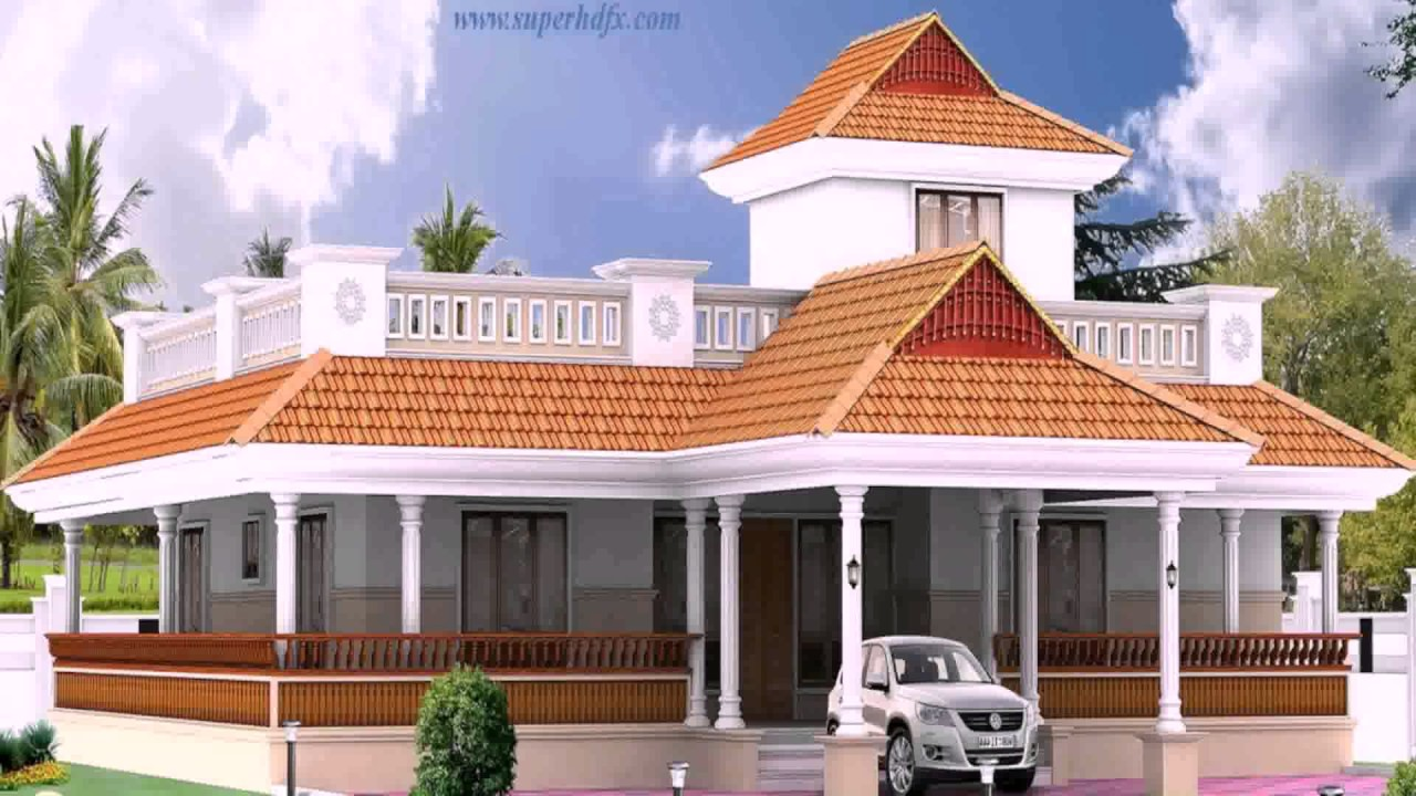 Kerala style 3 bedroom house plans single floor youtube for Single bed house plans