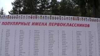 Самые популярные имена детей  Аллея первоклассников Казань 2015