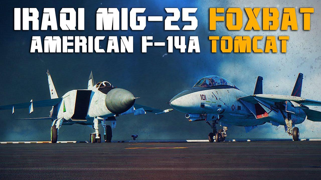 Download F-14A Tomcat Vs 4 Iraqi Mig-25 Foxbat | Digital Combat Simulator | DCS |