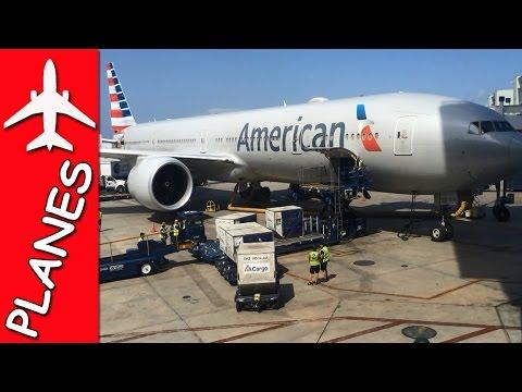 AMERICAN AIRLINES 767 LOADS BIG CARGO FAST   MrBigTrucks101