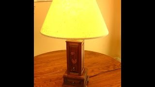 Homemade Lamp And Jewelry Box Woodworking Project