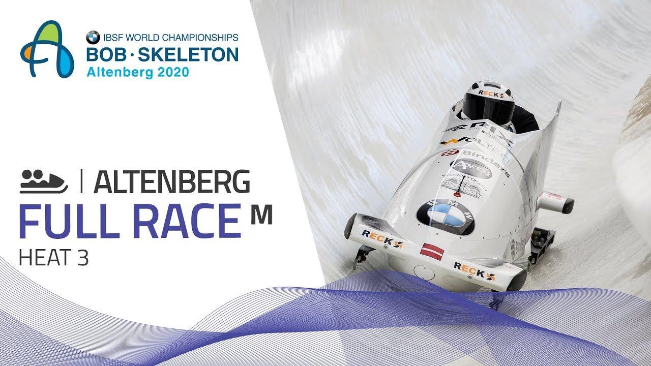 Altenberg   BMW IBSF World Championships 2020 - 2-Man Bobsleigh Heat 3   IBSF Official