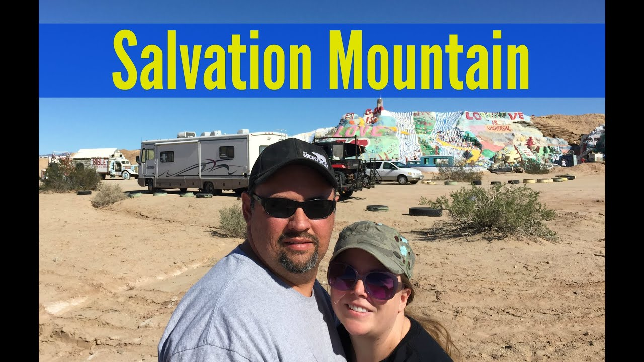 Salvation Mountain & driving through Slab City [North American Road Trip #84]