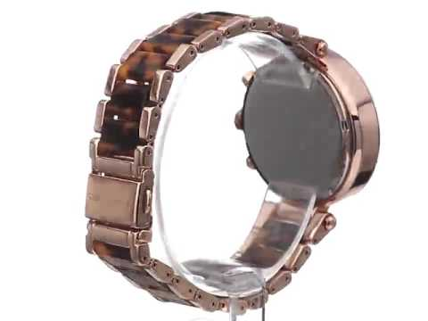 28f2c434d8f8 Michael Kors Women s MK5538 Parker Brown Crystal Accented Watch for sale  Black Friday Amazon 2016