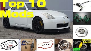homepage tile video photo for Nissan 350Z Top 10 Mods