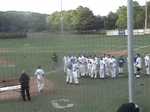 Dogpile celebration and awards ceremony Calhoun Nassau county baseball title