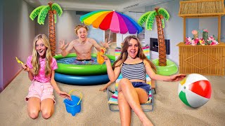 TURNING MY HOUSE INTO A BEACH!! **The Squad Reacts**🏖 | Piper Rockelle