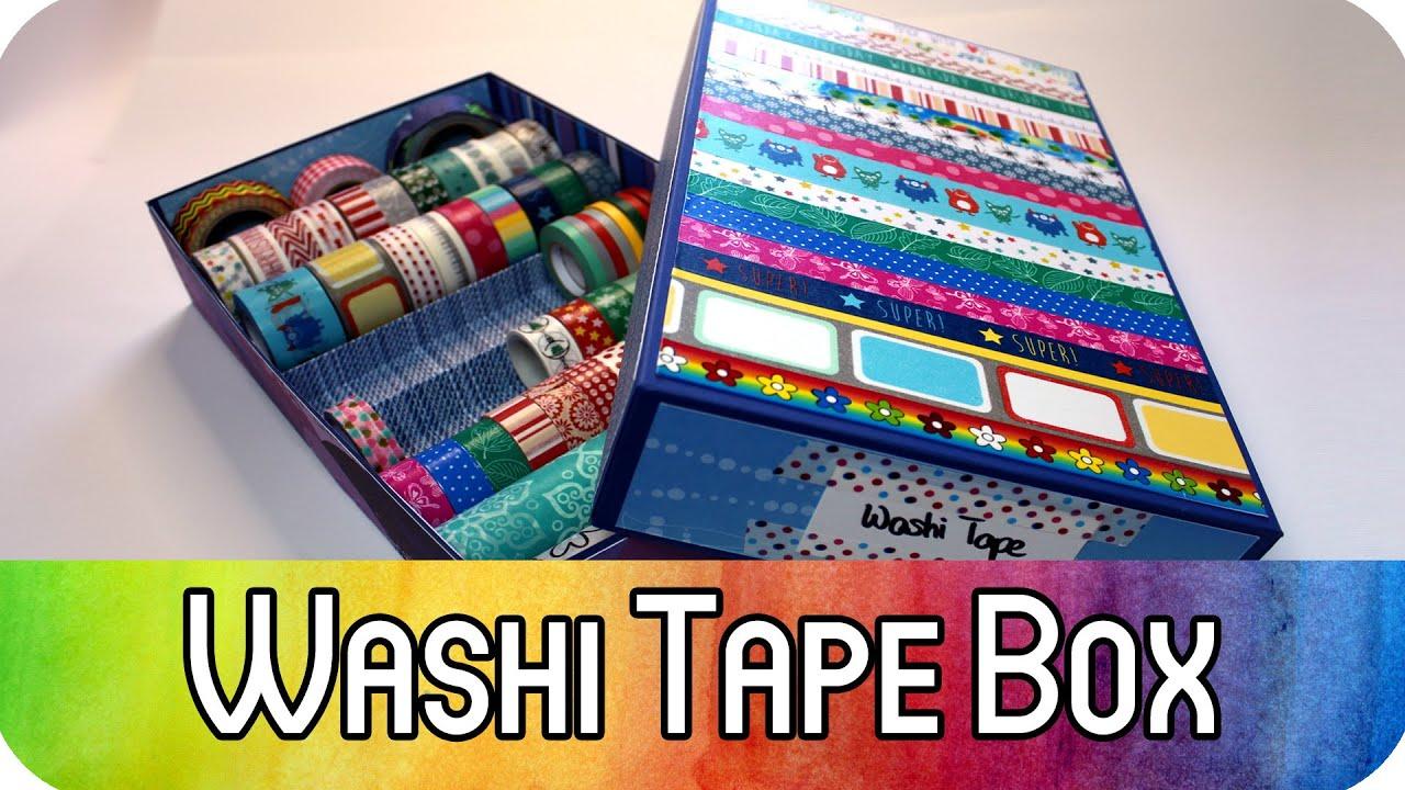 Diy Aufbewahrung Für Washi Tape Aufbewahrungsbox Mit Deckel Ordnung Im Bastelzimmer Kreativbunt