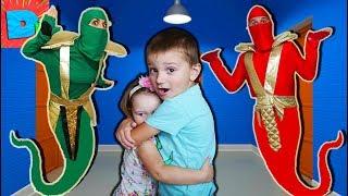 ЛЕГО НИНДЗЯГО ПЕРЕВОСПИТЫВАЮТ ВЕСЕЛЫХ ДЕТОК В Замен на новыи Сеиф Веселые Счастливые детки