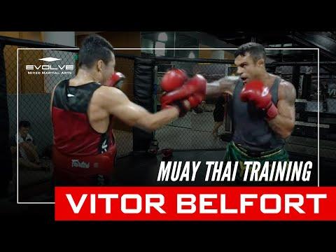 MMA and UFC World Champion Vitor Belfort Training Muay Thai At Evolve MMA!