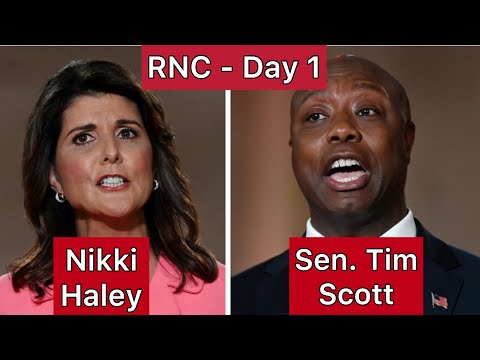 Republican National Convention Day 1- Focus on Moderate & Black voters