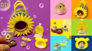 [DIY Miniature 6 Hamster set   hamster, bag , wheel ~]  이런 귀여움은 없었다!!  미니어쳐  6가지 햄스터 세트 만들기