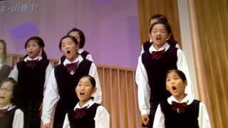 Japanese school performing furusato home