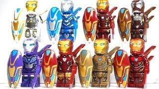 Lego Avengers Endgame Iron Man Mark 85 Iron Man Mark 50 weapons Unofficial Lego Minifigures