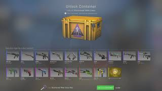 Opening a CS:GO case til a gold appears... DAY 266