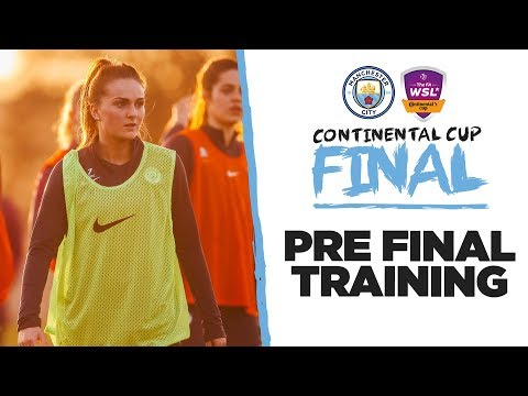 PRE FINAL TRAINING   Conti Cup Final   Man City Prepare for Arsenal!
