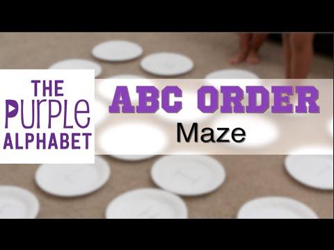 Alphabetical Order ABC Maze - Cheap and Easy Activity