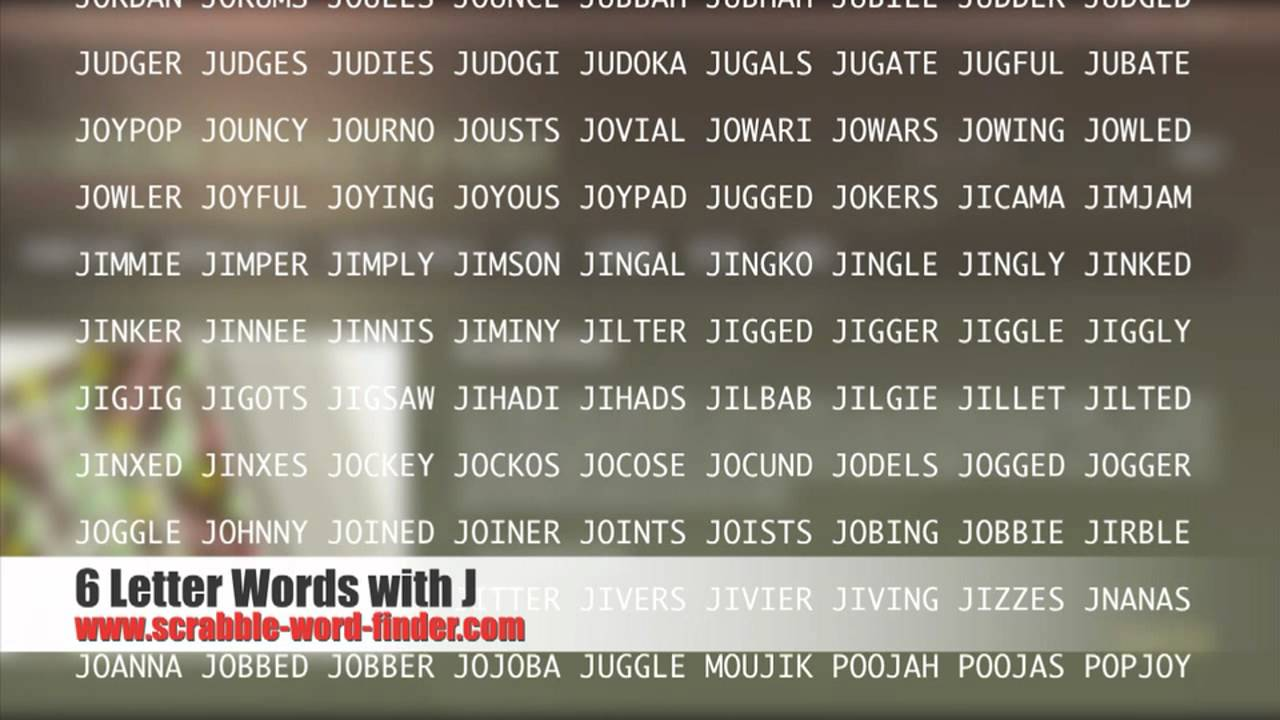 6 letter words with J   YouTube
