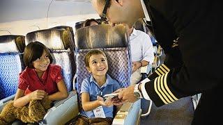 Полет в самолете с детьми - что взять с собой, чем занять ребенка