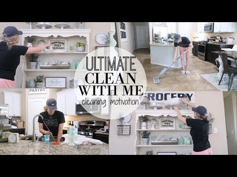 ULTIMATE CLEAN WITH ME 2018    MAJOR CLEANING MOTIVATION