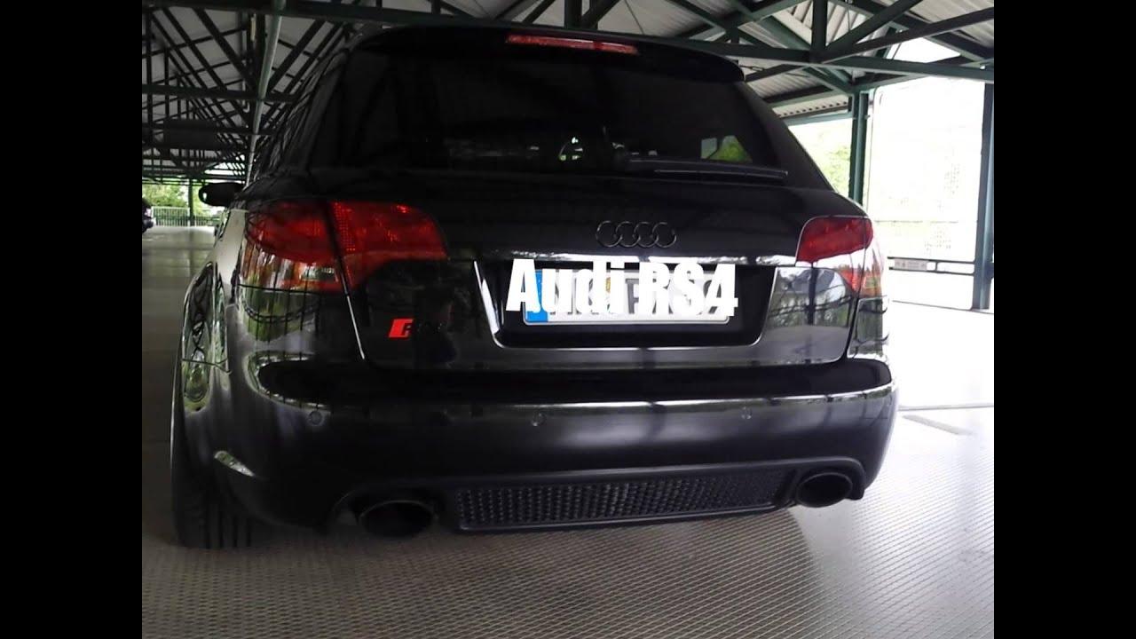 Audi Rs4 Avant Black Edition Sound Youtube