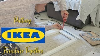 PUTTING IKEA FURNITURE TOGETHER & WE FINALLY GOT CURTAINS | Vlog Oct 15th 2018