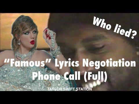 """Famous"" Lyrics Negotiation Phone Call (Full)"