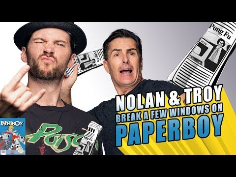 RETRO REPLAY  - Nolan & Troy Break a Few Windows on Paperboy
