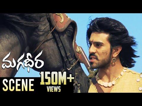 Ram Charan & Dev Gill Ultimate Horse Race Fight    Magadheera Telugu Movie    Kajal Aggarwal