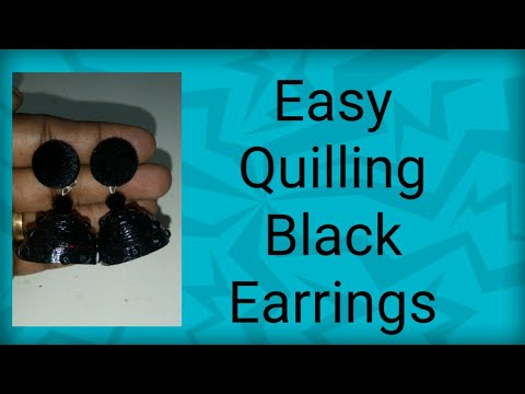 Easy Quilling Earrings/Jhumkas ||How to make Paper Earrings Jhumka Eco Friendly