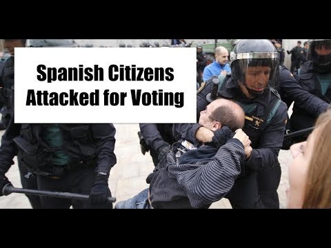 Spanish Citizens BEATEN by Government