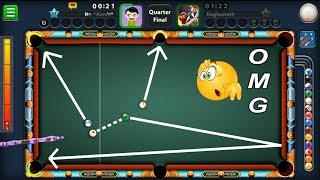 THIS 8 BALL POOL SHOT IS ONLY FOR PEOPLE WHO HAVE BRAINS..(no ignorance))